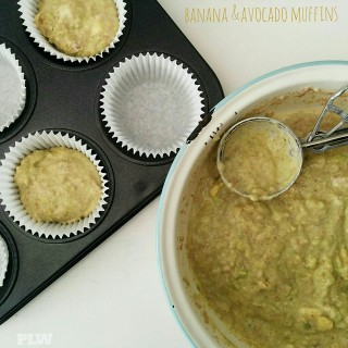Banana and Avocado Muffins