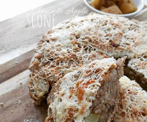 Cheese and Apple Scone Loaf