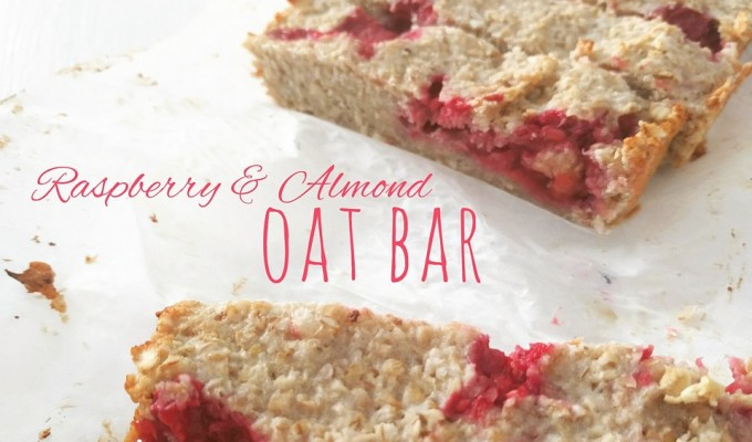 Raspberry and Almond Oat Bar