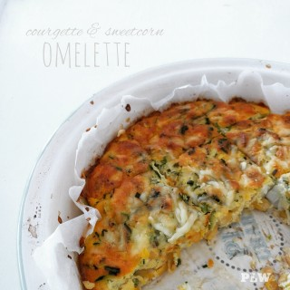 Courgette & Sweetcorn Omelette