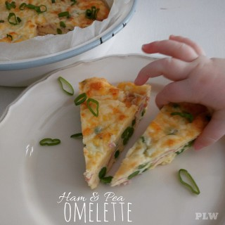 Ham and Pea Omelette