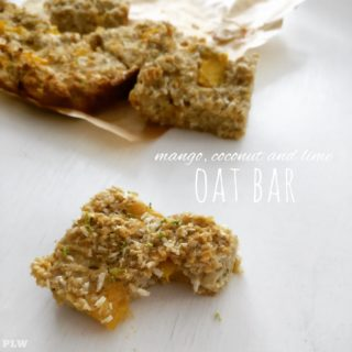 Mango, coconut and lime oat bar